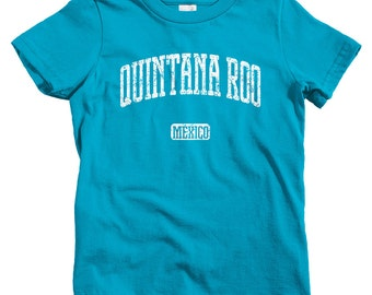 Kids Quintana Roo Mexico T-shirt - Baby, Toddler, and Youth Sizes - Kids Tee, Gift, Cancun Kids, Playa del Carmen, Chetumal, Riviera Maya
