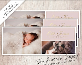 Facebook Cover Template for Photographers - Photography Facebook Timeline - Layered .PSD File - INSTANT DOWNLOAD - Design #1