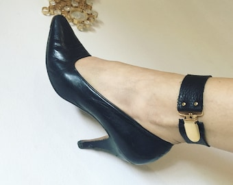 ANKHLET chic leather and brass anklet adornment by ANKH by Racquel