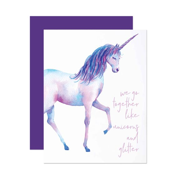 Unicorns & Glitter - Valentine's Day Card