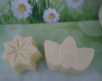 Soy Wax Melts~2 Leaf and Star Flowers Shape Candle- Soy Wax Tarts Candles -2.7oz