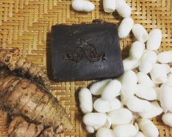 Turmeric milk white silkcocoon soap{Arada studio : Milk Series EP2}