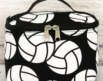 Volleyball Cosmetic Case/ Makeup Bag/ Travel Bag/ Gift for Teen/ Gift for Mom/ Mothers Day Gift/ Bridesmaid Gift/ Bridal Party Gift
