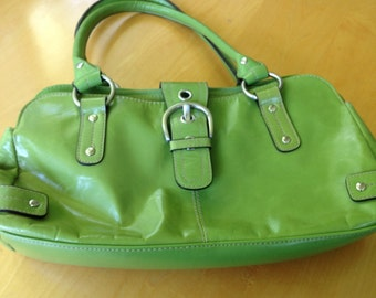 Vintage Grass Green Leather Handbag by Wilson Leather