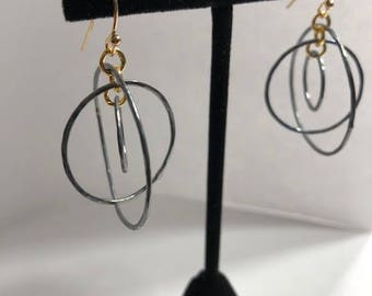 Deanna Mobile Silver and Gold Earring