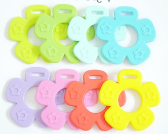 Baby Adapter Sew in Textured Teething Flower Shape Toy - EN71 approved BPA Free and FDA certified