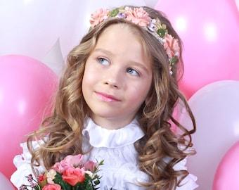 GIRL FLOWER Headband, Dollcake Headband, Pink Hair Bow, Dolce, Bow, Toddlers, Flower Girl, Accessories, Hairband