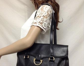 Black leather purse,Leather bag,bags ,purses, Black, Leather, Shoulder Bag , Jennifer Moore