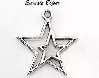 23 x 21 mm star 6 pendants