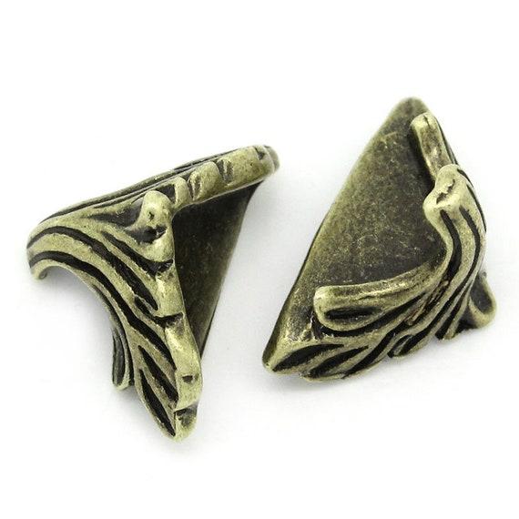 Set of 4 corners / angle - bronze - size: 14 mm