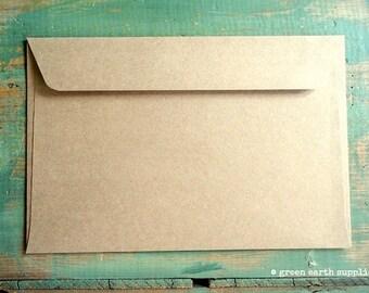 "100 6x9 Kraft Envelopes: eco-friendly envelopes, recycled envelopes, grocery bag kraft brown 6""x9"" booklet envelopes (15.2 cm x 22.9 cm)"