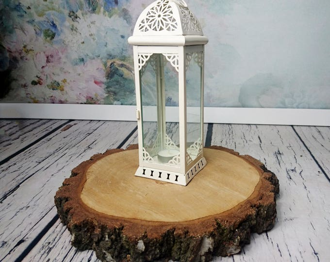 Moroccan candle lantern Rustic vintage wedding centerpiece party decor metal glass woodland outdoor home shabby chic