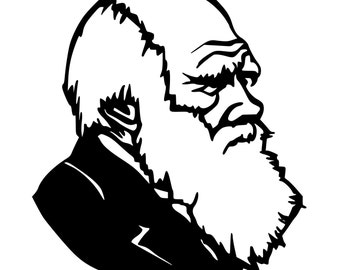 Charles Darwin Evolution Die-Cut Decal Car Window Wall Bumper Phone Laptop