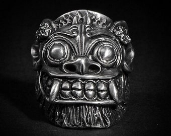 Fourspeed Metalwerks Guardian Rings Pewter Original Handmade Men's Women's Barong Bali Biker Motorcycle Rugged Rock Punk Skull Jewelry