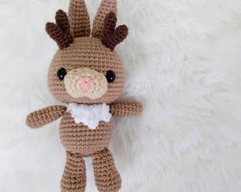 Pattern: Crochet Jackalope Pattern, Amigurumi Tutorial Pattern, Crocheted Jackalope, Amigurumi Mythical Creature, Rabbit PDF Crochet Pattern