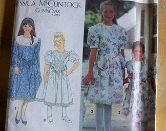 Simplicity 8253 Jessica McClintock Gunne Sax Girls dress Sewing Pattern