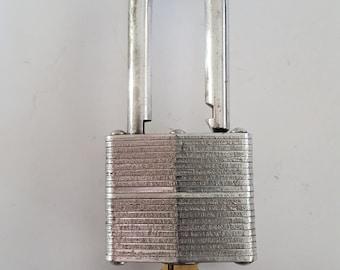 Vintage 1960's Master Lock Co. No. 3, polished lock and key looks really nice