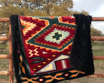 SOLD- Southwestern Queen/King Comforter and Weighted Blanket