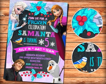 Frozen Invitation, Frozen Party, Girl Frozen Invitation, Frozen Birthday Invitation, Pink Frozen Invitation, Frozen Invite Printable, Elsa