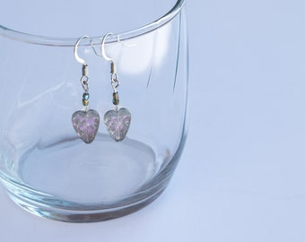 Silver leaf handmade dangle earrings