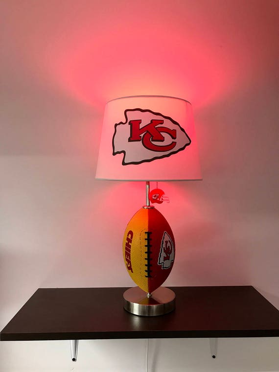 Kansas city chiefs football lamp nfl man cave sports lamp aloadofball Image collections