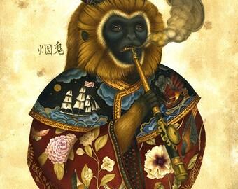 Monkey Print - Foreign Medicine - High quality Giclee Print Art