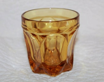 B2 Fairfield Amber Old Fashioned Glass by Anchor Hocking Discontinued 1972 - 1977