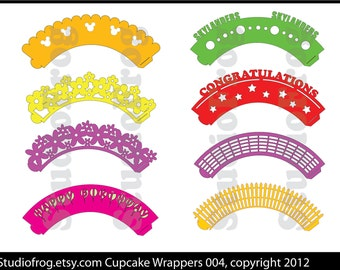Cupcake Wrappers SVG Bundle 004 - NEW