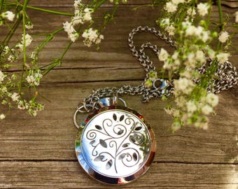 Whimsical Tree Aromatherapy Oil Diffuser Locket Necklace