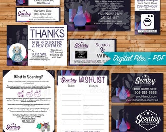 Authorized scentsy vendor bundle independent consultant authorized scentsy vendor bundle independent consultant cards custom business cards diffusers print reheart Image collections