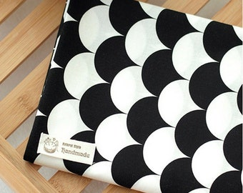 Cotton Fabric Black & White Ginkgo Leaves By The Yard