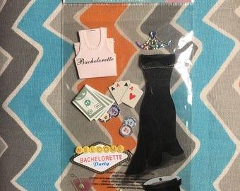 DESTASH Scrapbooking Bachelorette Party 14 Piece Set Embellishment
