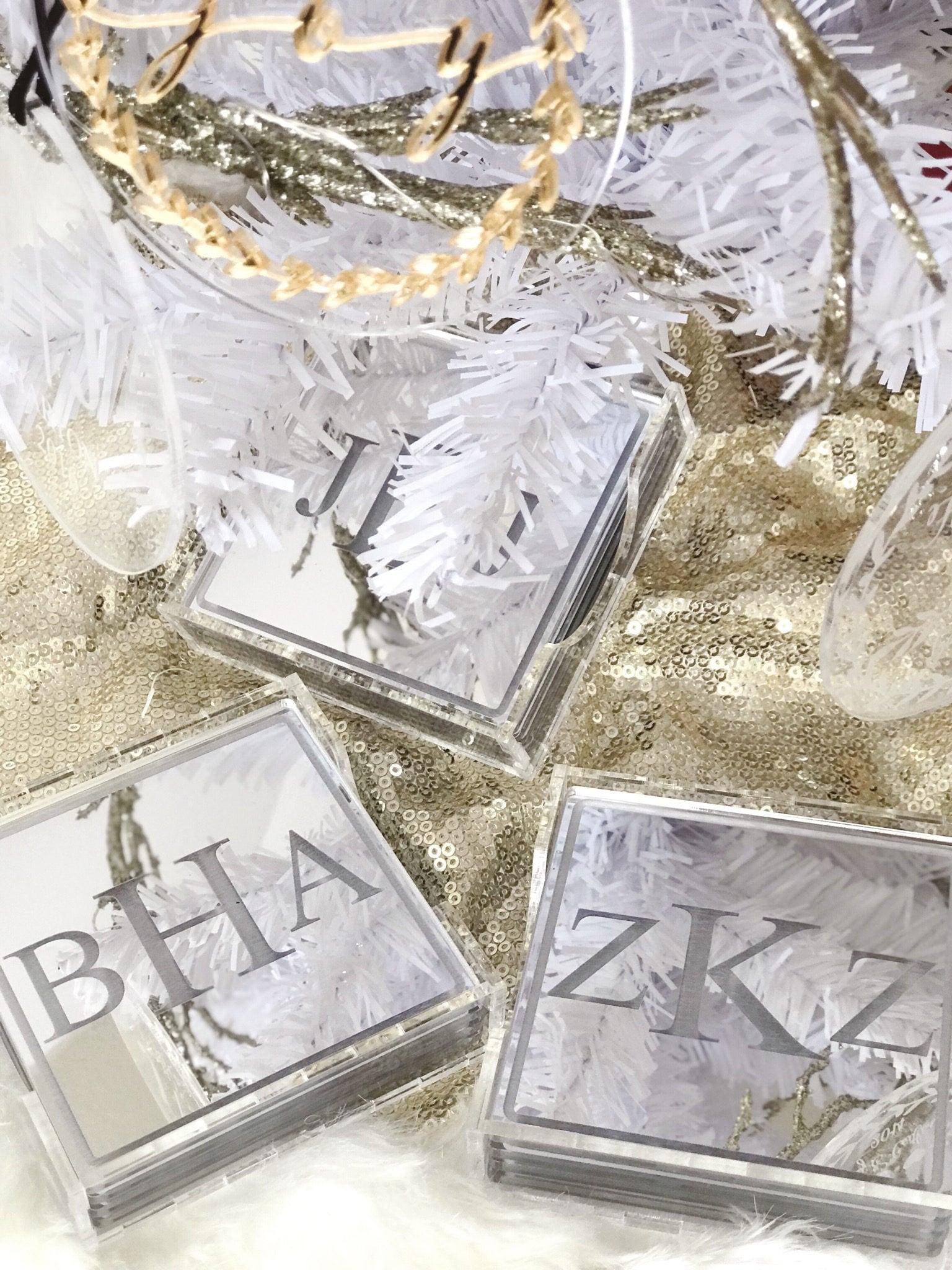Personalized Laser Cut Etched Acrylic Coasters,Wedding Decor ...