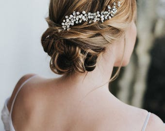 """Wedding Hair Accessories, Bridal Comb, Bridal Hair Accessories, Bridal Headpiece ~ """"Addison"""" Wedding Hair Comb in Silver, Gold or Rose Gold"""