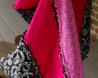Pink Candy Cane Rag Quilt