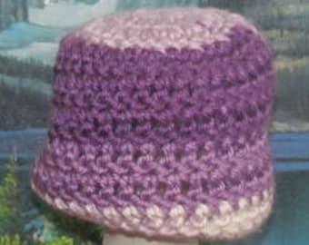 SCN 006 Hand crochet baby beanie cap 0 to 3 months