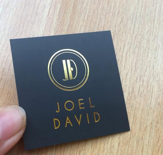 200 business cards or hang tags mini square 2x2 colourmoves