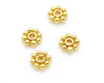 10 Pcs, 3.3 mm, 24k Gold Vermeil Spacers