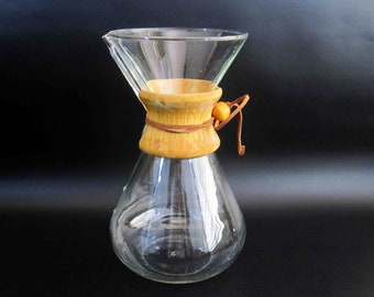 Vintage Chemex Pour-Over Coffee Maker. Circa 1960's.