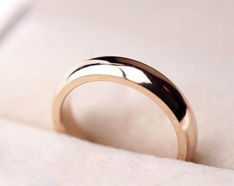 Simple 18K Rose Gold Ring (Thick)