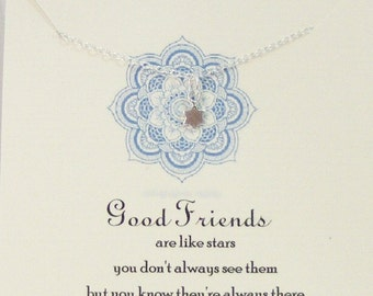 Good Friends Are Like Stars,Necklace,Friend,Friendship,Best Friend,Star Necklace,Constellation Neckalce,Minimalist ,Sterling Necklace