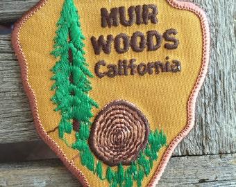 Muir Woods California Vintage Souvenir Travel Patch