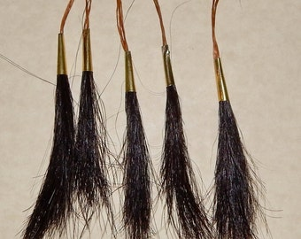 Genuine Horsehair Scalp Locks With Brass Cones