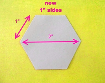 100 Paper Hexagon Templates for Patchwork One inch Sides
