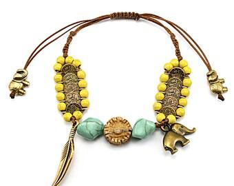 Boho bracelet, Bohemian bracelet, Boho jewelry, Bohemian jewelry, Hippie bracelet, Hippie jewelry, Bracelet for woman, Gift for her,