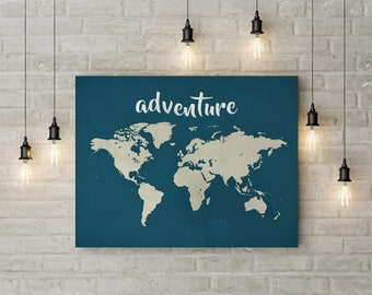 World map printable etsy adventure world map download world map poster world map printable world map art teal world map wall art kids childrens map digital download gumiabroncs Gallery