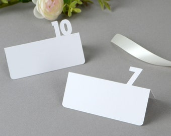 Table Number Tent Place Cards | Banquet place cards  | wedding | bar mitzvah | bat mizvah | reception | modern name cards | escort cards