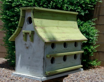 Purple Martin bird house, large bird house, functional bird house, rustic bird house, barn bird house, Bird House, Handmade Bird House