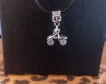Satin Black - Monster Truck 4x4 Necklace