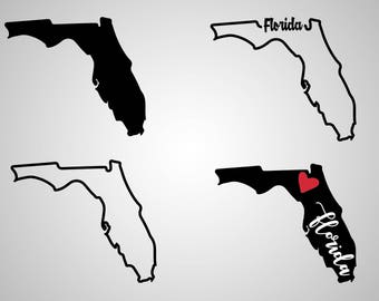 Florida Dxf Outlines Etsy